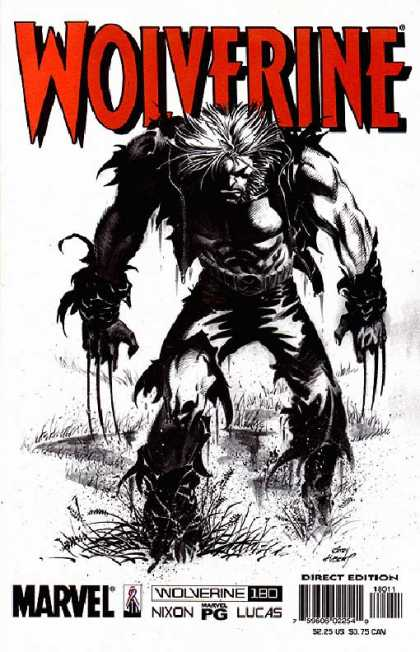 Wolverine 180 - Red - Black And White - Claws - Belt - Grass - Andy Kubert