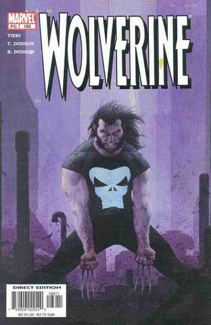 Wolverine 186 - Skull Shirt - Marvel - Angry - Pipes - Extended Blades - Esad Ribic
