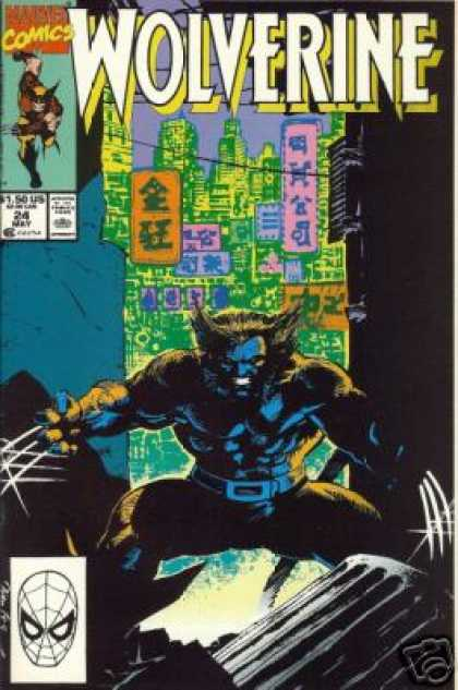 Wolverine 24 - Marvel Comics - Skyline - Trsh Can - Blue Body - Claws - Jim Lee