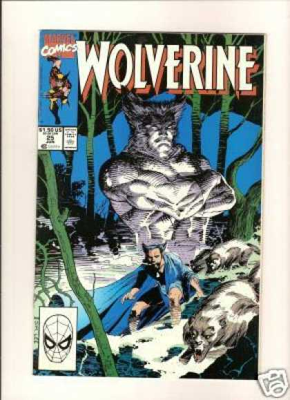 Wolverine 25 - Man With Horns - Trees - Animals - Blue Flowing Cape - Vines - Jim Lee