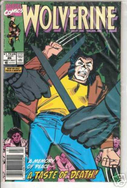 Wolverine 26 - X-men - Blades - Memory Of Peace - A Taste Of Death - Claws - Klaus Janson