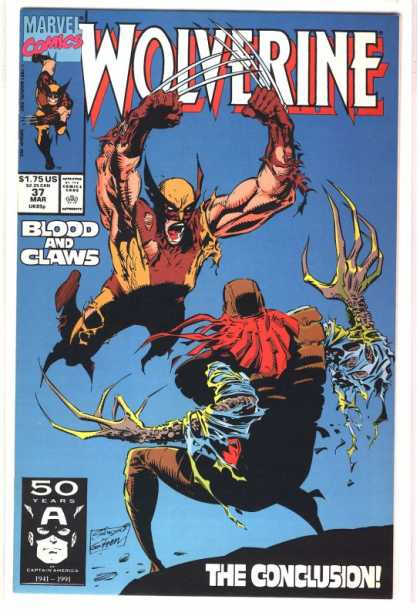 Wolverine 37 - Blood - Claws - The Conclusion - 50 Years - Marvel Comics - Marc Silvestri