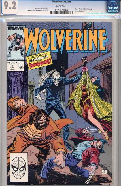 Wolverine 4 - Pony Tail - Woman - Attack - Dark - Wound - Frank Miller, John Buscema