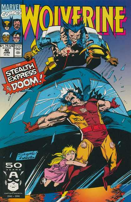 Wolverine 40 - Marvel - Marvel Comics - Stealth Express - Speed Train - Double Wolverine - Josef Rubinstein, Marc Silvestri