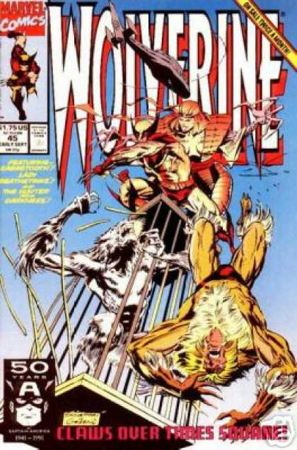 Wolverine 45 - Marvel Comics - Wolverine - X-men Comic - Sabertooth Vs Wolverine Comic - Claws Over Times Square - Marc Silvestri