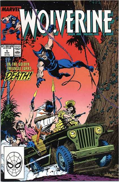 Wolverine 5 - Jeep - Guns - Fire - Ivy - Jungle - Al Williamson, John Buscema