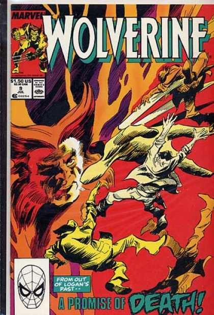 Wolverine 9 - Logan - Promise Of Death - Big Hand - Bodies Falling - Red Colors - Gene Colan, Matt Wagner