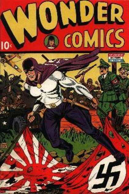 Wonder Comics 1 - Natzi - Ww2 - Wwii - Flag - Hitler - Will Eisner