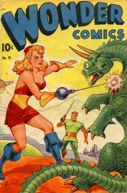 Wonder Comics 18 - Defender Of The State - Dragon Fighter - The Faithful Sword - Battle With A Beast - The Prestigious Fight