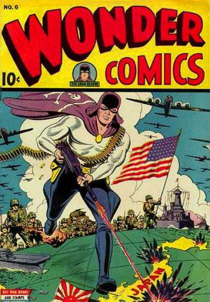 Wonder Comics 6 - American Fighter - One Man Army - Fastest Fighter - Strongest Hero - The Purple Caper Fights Again