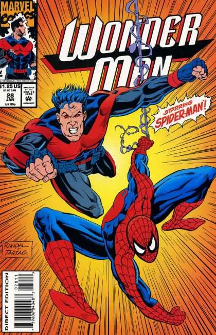 Wonder Man 28 - Marvel Comics - 28 Jan - 125 Us - Spiderman - Approved By The Comics Code Authority