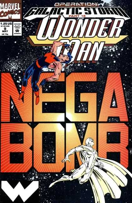 Wonder Man 9 - Marvel Comics - Space - Galactic Storm - Mega Bomb - Approved By The Comics Code