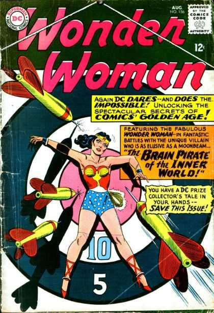 Wonder Woman (1987) 156 - Supergirl - Comics Code - Costume - Black Hair - Darts - Adam Hughes