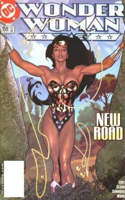 Wonder Woman (1987) 159 - Women - Black - Hair - Sky - Tree - Adam Hughes