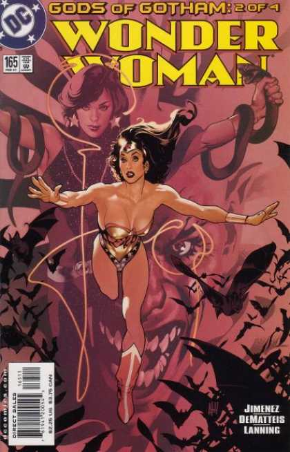 Wonder Woman (1987) 165 - Dc Comics - Snakes - Bats - Gods Of Gotham - Evil - Adam Hughes