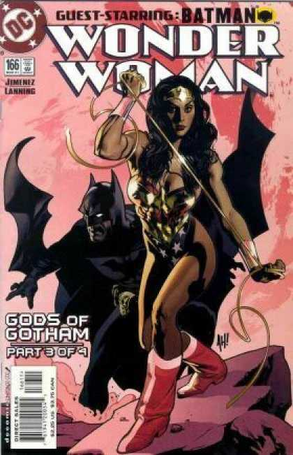 Wonder Woman (1987) 166 - Batman - Gods Of Gotham - Whip - Boots - Tiara - Adam Hughes