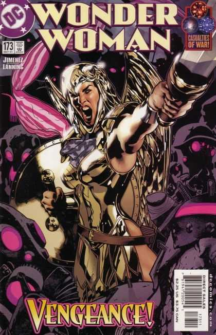 Wonder Woman (1987) 173 - Amazon - Shout - Sword - War - Purple - Adam Hughes