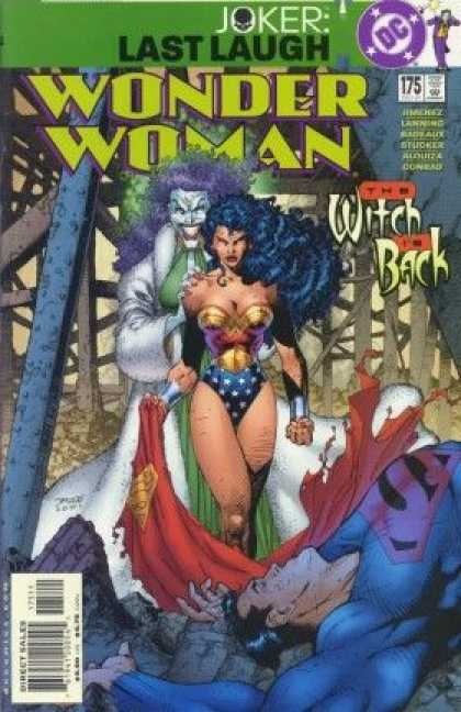 Wonder Woman (1987) 175 - Joker - Last Laugh - Dc - The Witch In Back - Costume - Jim Lee