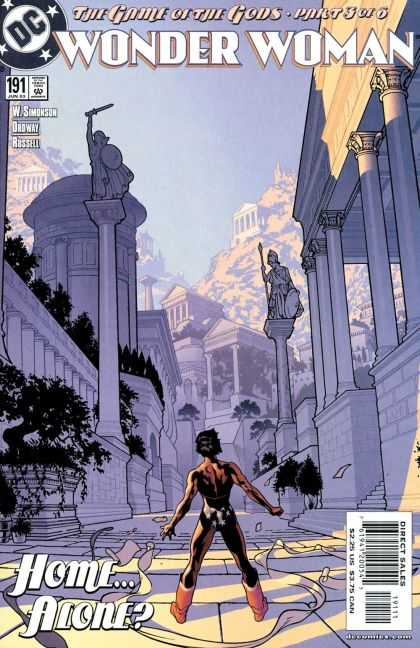 Wonder Woman (1987) 191 - The Game Of The Gods - Part 3 Of 6 - Columns - Ancient Architecture - Home Alone - Adam Hughes