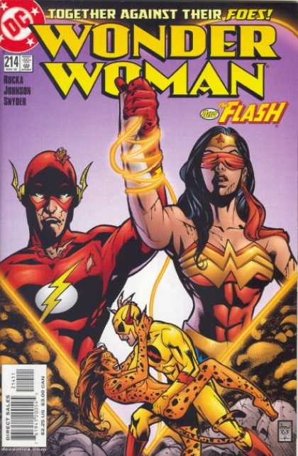 Wonder Woman (1987) 214 - Tied Together - Red Glove - Two Above Two - Dipped - Golden Lasso Around Wrists