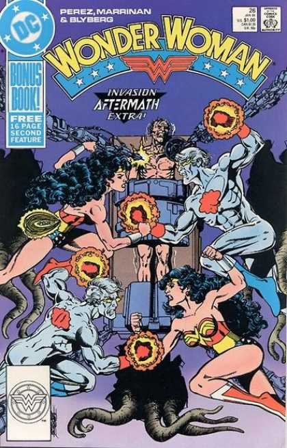 Wonder Woman (1987) 26 - Perez - Marrinan - Invasion Aftermath Extra - Bonus Book - Free 16 Page Second Future - George Perez, Neil Vokes