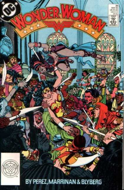 Wonder Woman (1987) 30 - Dc Comics - Modern Age - Large Group Image - Superheros - George Perez - George Perez