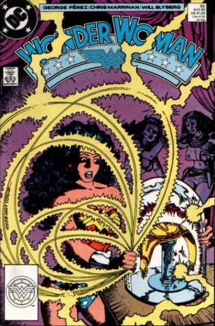 Wonder Woman (1987) 33 - Dc - Electricity - Big Hair - George Perez - Will Blyberg - George Perez