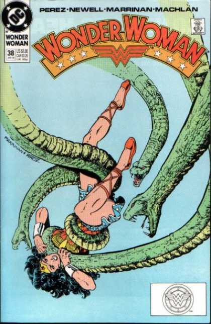 Wonder Woman (1987) 38 - Amazon - Princess - Snakes - Entangled - Grips - George Perez