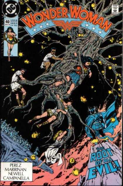 Wonder Woman (1987) 40 - Dc Comics - Floating Tree - Trapped - Root Of All Evil - Perez - George Perez