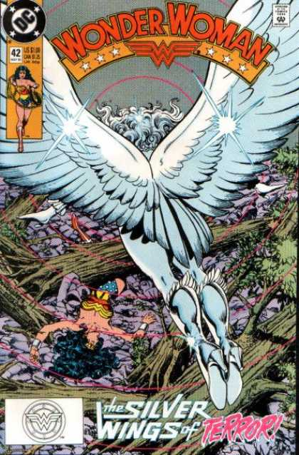 Wonder Woman (1987) 42 - The Silver Wings Of Terror - Wings - Fly - Tree - Roots - George Perez