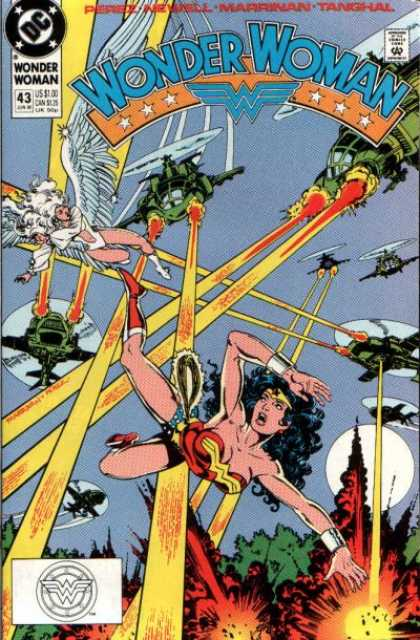 Wonder Woman (1987) 43 - Fire - Trees - Helicopters - Wings - Lasers - George Perez