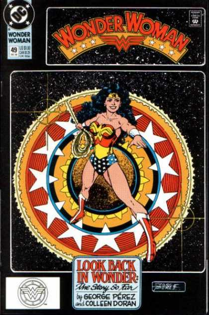 Wonder Woman (1987) 49 - Look Back In Wonder The Story So Far - George Perez - Colleen Doran - Starfield - Circular Shield - George Perez