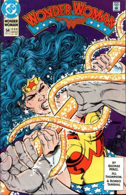 Wonder Woman (1987) 54 - George Perez - Jill Thompson - Struggle - Romeo Tanghal - Glowing Bar - George Perez