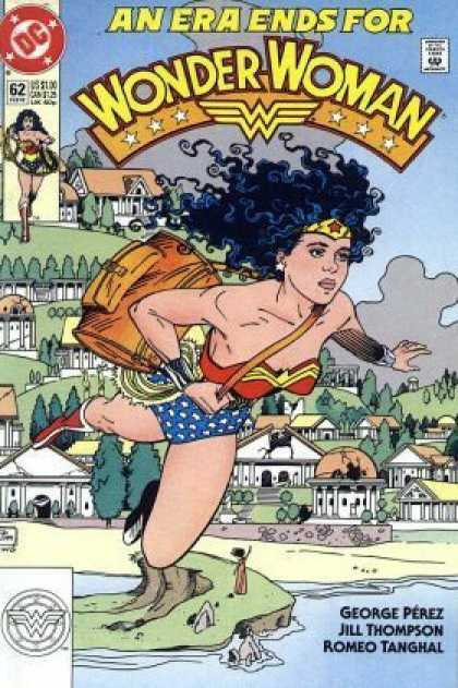 Wonder Woman (1987) 62 - Wonder Woman - City - Trees - Sky - Rocks - Jill Thompson