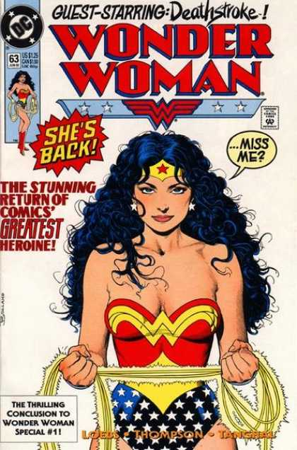 Wonder Woman (1987) 63 - Deathstroke - Loebs - Thompson - Thangal - Conclusion To Wonder Woman 1 - Brian Bolland