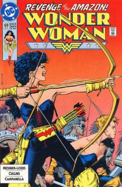 Wonder Woman (1987) 69 - Dc - Revenge Of The Amazon - Approved By The Comics Code - Superhero - Bow - Brian Bolland