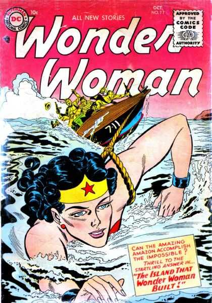 Wonder Woman (1987) 77 - Boat - Swim - Island That Wonder Woman Built - 7-11 - Ocean - Brian Bolland