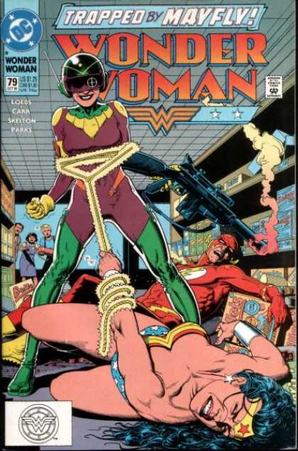 Wonder Woman (1987) 79 - Flash - Subdued - Bullet - Gun - Stronger - Brian Bolland