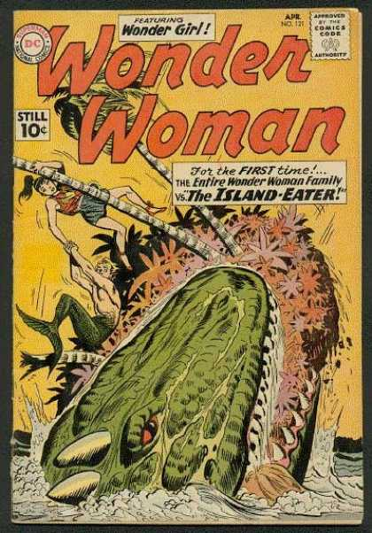 Wonder Woman 121 - Wonder Girl - Entire Wonder Woman Family - The Island Eater - Island - Wonder Family - Ross Andru