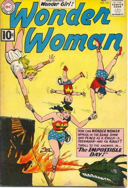 Wonder Woman 124 - Walking The Wire - Balancing Act - Hot Foot - Holding My End Up - Hold On Baby - Ross Andru