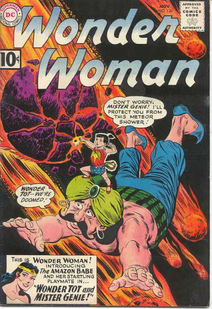 Wonder Woman 126 - Fire Balls - Comets - Genie - Magic Lasso - Outer Space - Ross Andru
