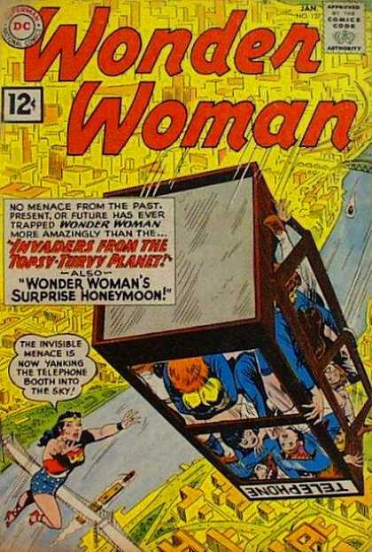 Wonder Woman 127 - Dc - 12 Cents - January - Phone Booth - Superhero - Ross Andru
