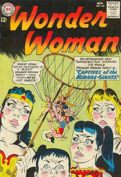 Wonder Woman 142 - Wonder Woman - Net - Great Hera - Captives Of The Miragegaints - Impossible Tale - Ross Andru
