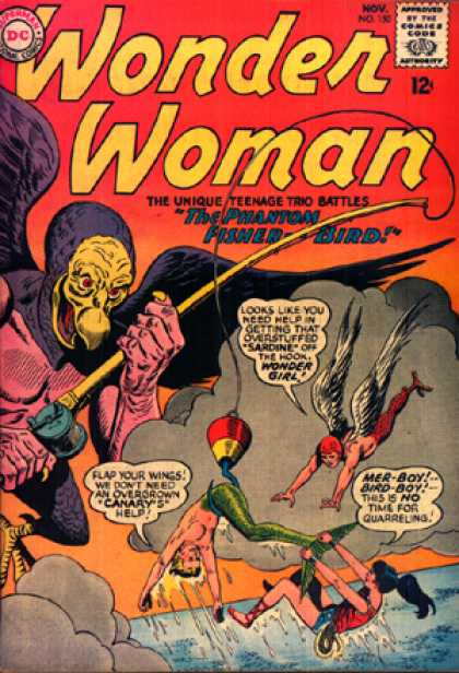 Wonder Woman 150 - Teenage Trio - Phantom Fisher Bird - This Is No Time For Quarreling - Wonder Girl - Fishing Rod - Ross Andru