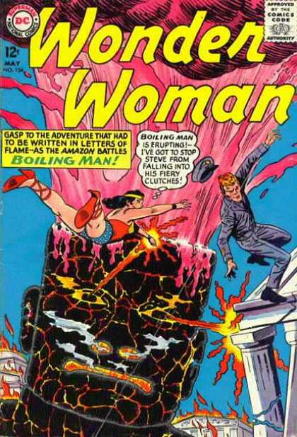 Wonder Woman 154 - Superman - National Comics - Dollar Comics - Approved By The Comics Code Authority - Boiling Man - Ross Andru