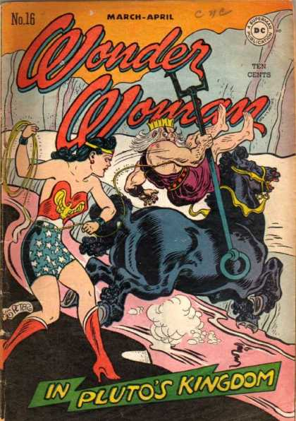 Wonder Woman 16 - Plutos Kingdom - Water - Staff - Crown - Horse - Harry Peter, Terry Dodson