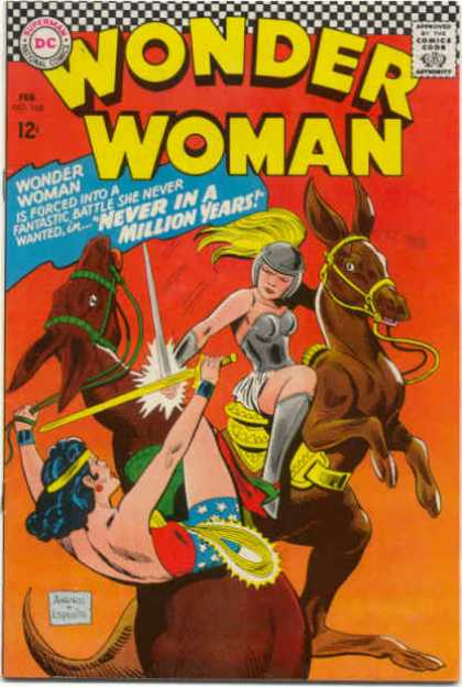Wonder Woman 168 - Never In A Million Years - Fantastic Battle - Armor - Dc - Swords - Ross Andru