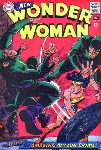 Wonder Woman 172 - Fight - Dc - October - The Amazing Amazon Crime - Costumes