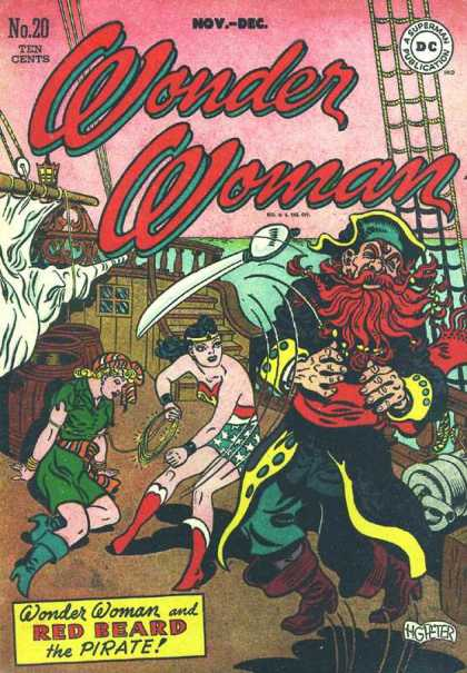 Wonder Woman 20 - Red Beard - Pirate - Ship - Sword - Punch - Aaron Lopresti, Harry Peter