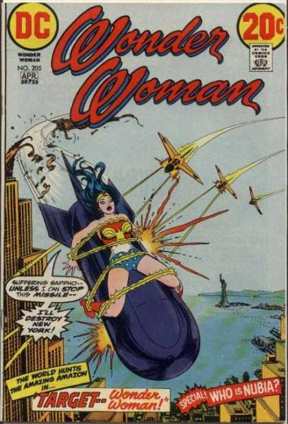 Wonder Woman 205 - Missile - New York - Planes - Target - Who Is Nubia - Nick Cardy